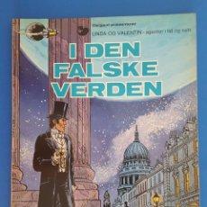 Cómics: COMIC / LINDA OG VALENTIN - AGENTER I TID OG RUM / I DEN FALSKE VERDEN / DARGAUD 1977 BELGICA. Lote 203548792