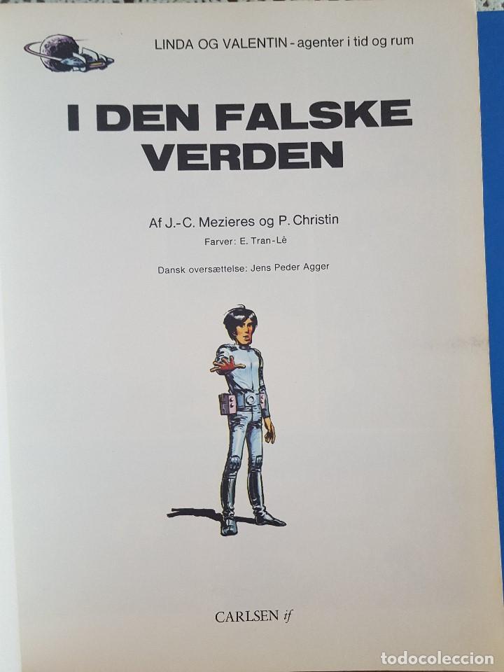 Cómics: COMIC / LINDA OG VALENTIN - AGENTER I TID OG RUM / I DEN FALSKE VERDEN / DARGAUD 1977 BELGICA - Foto 2 - 203548792