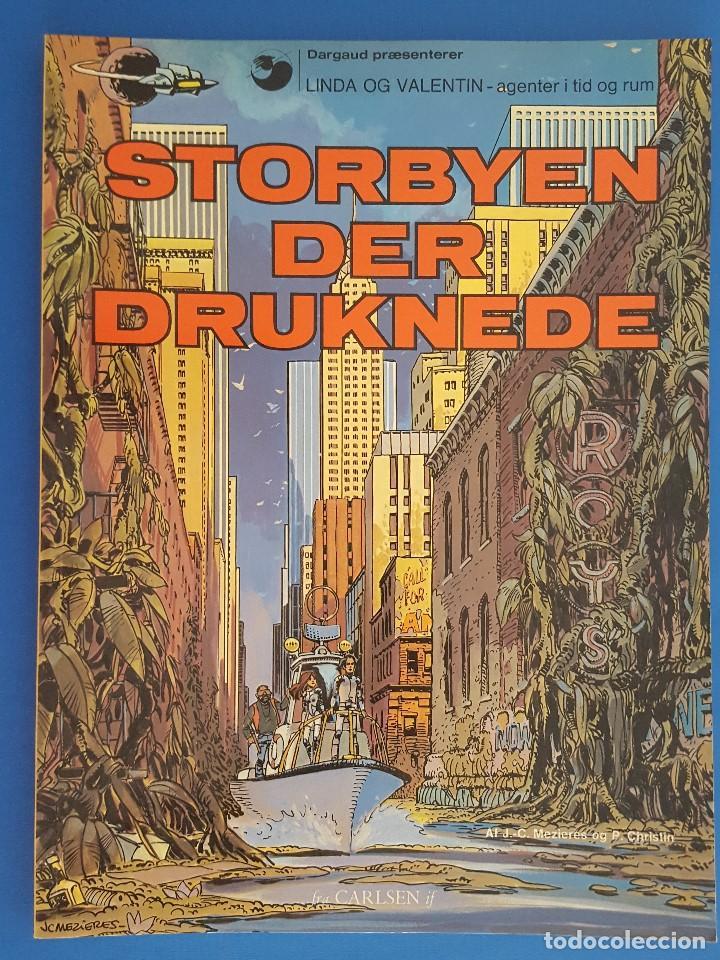 COMIC / LINDA OG VALENTIN - AGENTER I TID OG RUM / STORBYEN DER DRUKNEDE / DARGAUD 1977 BELGICA (Tebeos y Comics - Comics Lengua Extranjera - Comics Europeos)