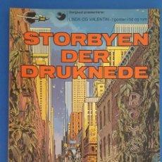 Cómics: COMIC / LINDA OG VALENTIN - AGENTER I TID OG RUM / STORBYEN DER DRUKNEDE / DARGAUD 1977 BELGICA. Lote 203548962