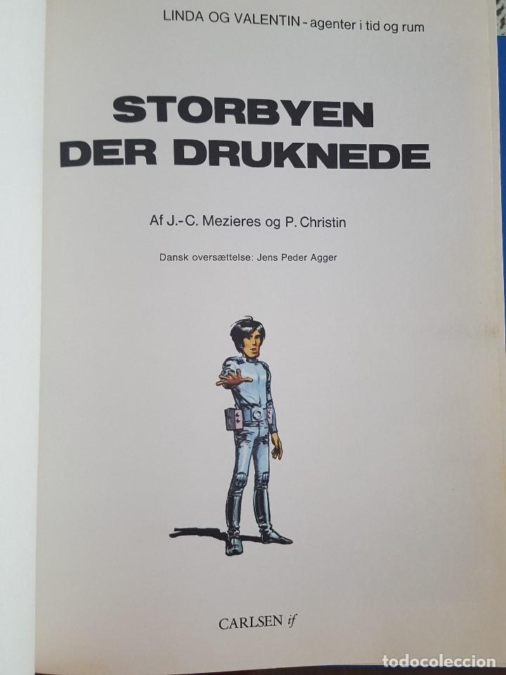 Cómics: COMIC / LINDA OG VALENTIN - AGENTER I TID OG RUM / STORBYEN DER DRUKNEDE / DARGAUD 1977 BELGICA - Foto 2 - 203548962