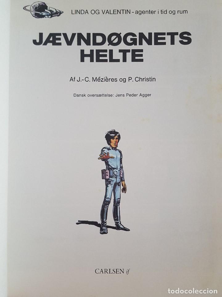 Cómics: COMIC / LINDA OG VALENTIN - AGENTER I TID OG RUM / JÆVN DØGNETS HELTE / DARGAUD 1979 BELGICA - Foto 2 - 203549441