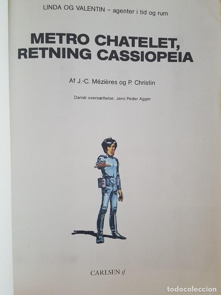 Cómics: COMIC / LINDA OG VALENTIN - AGENTER I TID OG RUM / METRO CHATELET, RETNING CASSIOPEIA /1980 BELGICA - Foto 2 - 203549598