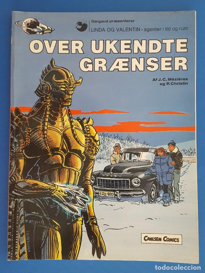 COMIC / LINDA OG VALENTIN - AGENTER I TID OG RUM / OVER UKENDTE GRÆNSER / DARGAUD 1988 BELGICA (Tebeos y Comics - Comics Lengua Extranjera - Comics Europeos)