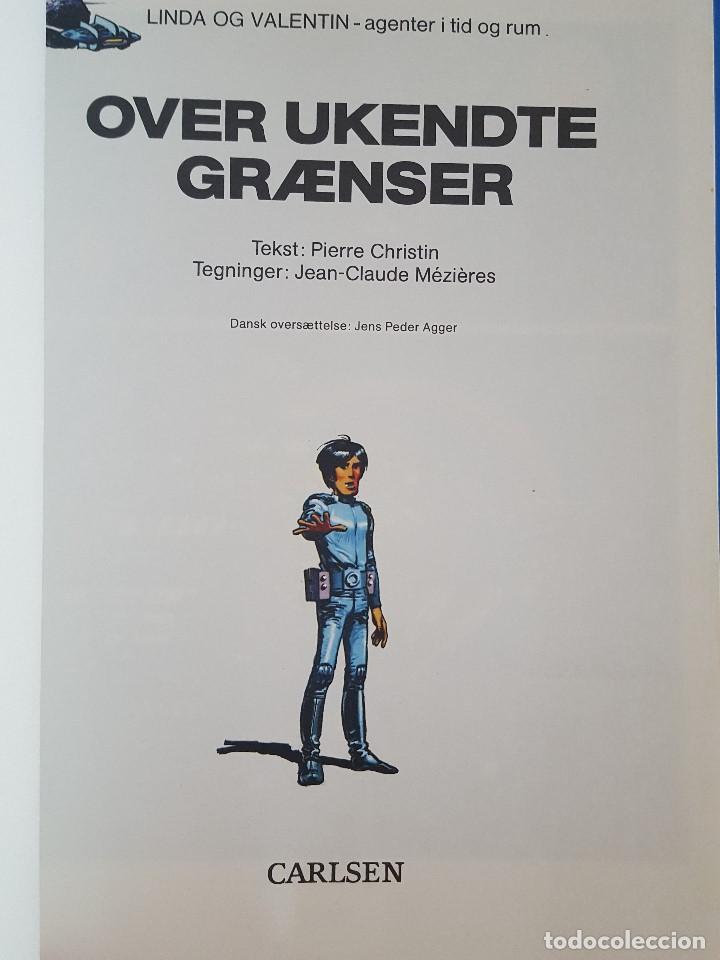 Cómics: COMIC / LINDA OG VALENTIN - AGENTER I TID OG RUM / OVER UKENDTE GRÆNSER / DARGAUD 1988 BELGICA - Foto 2 - 203550047