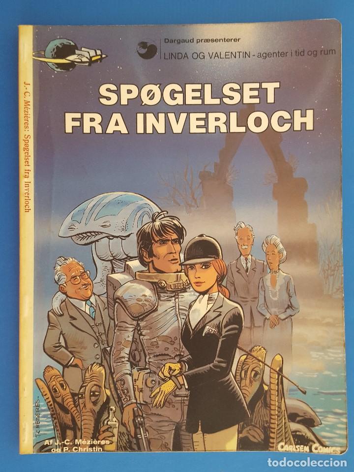 COMIC / LINDA OG VALENTIN - AGENTER I TID OG RUM / SPØGELSET FRA INVERLOCH / DARGAUD 1984 BELGICA (Tebeos y Comics - Comics Lengua Extranjera - Comics Europeos)