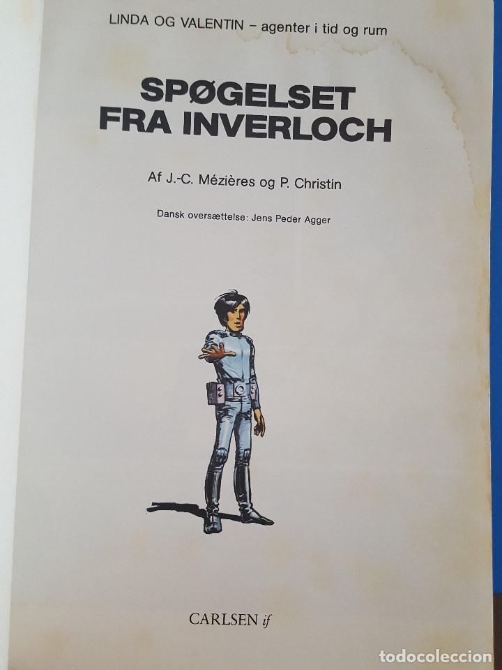 Cómics: COMIC / LINDA OG VALENTIN - AGENTER I TID OG RUM / SPØGELSET FRA INVERLOCH / DARGAUD 1984 BELGICA - Foto 2 - 203550490