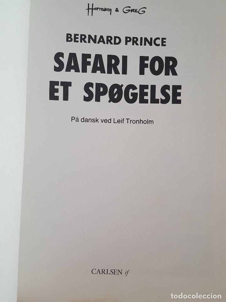 Cómics: COMIC / BERNARD PRINCE Nº 2 / SAFARI FOR ET SPØGELSE / CARLSEN / HERMANN & GREG / BELGICA 1975 - Foto 2 - 203725850