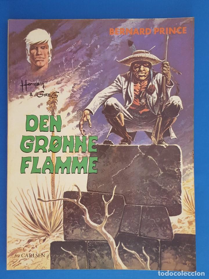 COMIC / BERNARD PRINCE Nº 1 / DEN GRØNNE FLAMME / CARLSEN / HERMANN & GREG / BELGICA 1974 (Tebeos y Comics - Comics Lengua Extranjera - Comics Europeos)