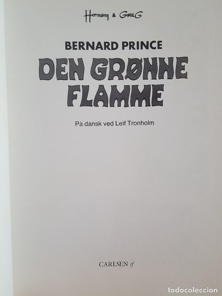 Cómics: COMIC / BERNARD PRINCE Nº 1 / DEN GRØNNE FLAMME / CARLSEN / HERMANN & GREG / BELGICA 1974 - Foto 2 - 203725997