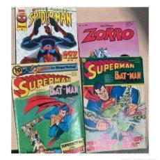 Cómics: 4 CÓMICS DESDE 1974: SUPERMAN, EL ZORRO, SPIDERMAN. ALEMÁN Y ESPAÑOL.. Lote 204412607