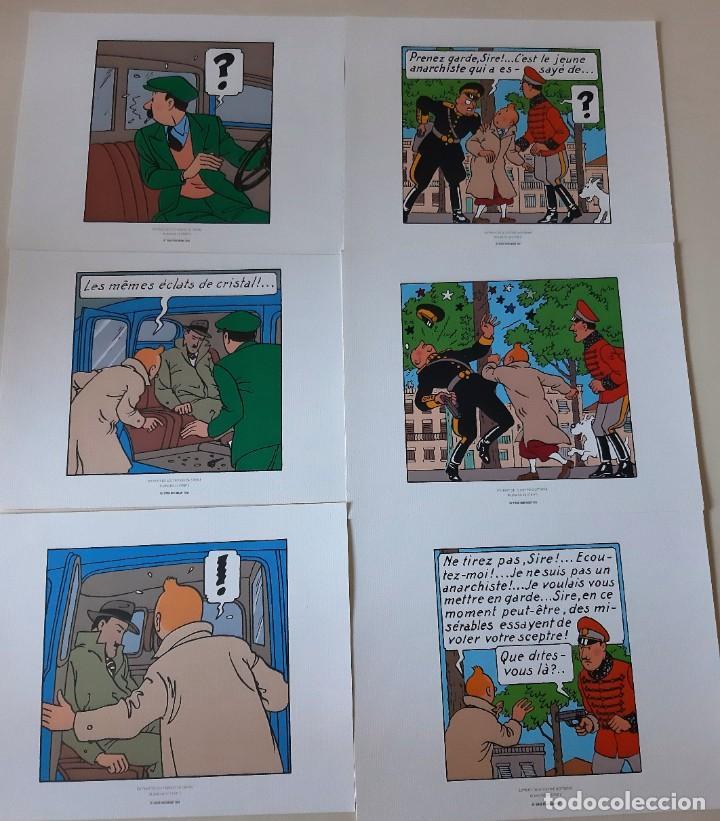 TINTIN - SEIS LAMINAS (Tebeos y Comics - Comics Lengua Extranjera - Comics Europeos)
