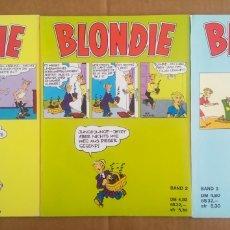 Cómics: LOTE BLONDIE: BAND 1-2-3, POR YOUNG Y RAYMOND (VERLAG POLLISCHANSKY). EN ALEMÁN.. Lote 208334250