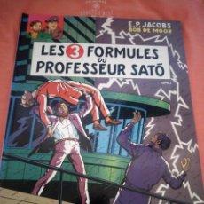 Cómics: LES 3 FORMULES DU PROFESSEUR SATÓ 2 BLAKE & MORTIMER 12 E.P. JACOBS - BOB DE MOOR EN FRANCÉS.1990. Lote 210541050