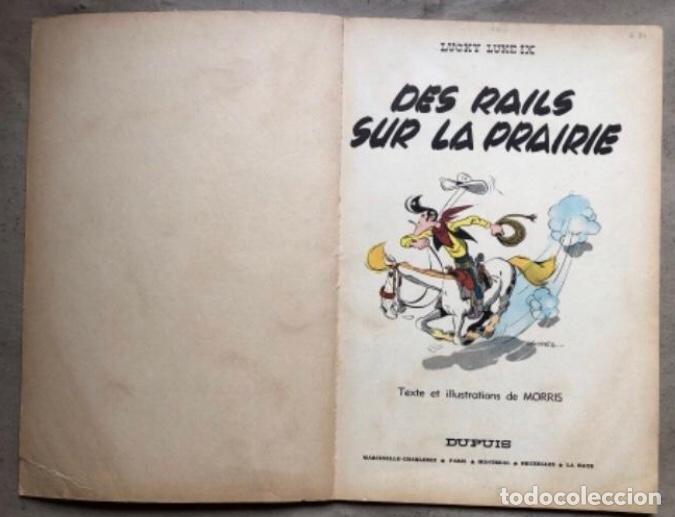 """Cómics: LUCKY LUKE """"DES RAILS SUR LA PRAIRIE"""". ED. DUPUIS 1967. EN FRANCÉS. - Foto 2 - 210980979"""