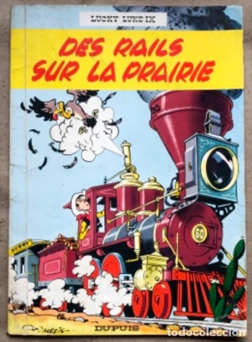 "LUCKY LUKE ""DES RAILS SUR LA PRAIRIE"". ED. DUPUIS 1967. EN FRANCÉS. (Tebeos y Comics - Comics Lengua Extranjera - Comics Europeos)"
