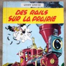 """Cómics: LUCKY LUKE """"DES RAILS SUR LA PRAIRIE"""". ED. DUPUIS 1967. EN FRANCÉS.. Lote 210980979"""