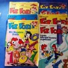 Cómics: LOTE 13 FIX UND FOXI 1980/81 ALEMÁN. Lote 212247113