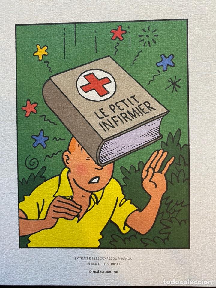 Cómics: Lote Tintin Cómic Les CIGARES Du PHARAON año 1966 + 3 planchas paginas año 2011 Hergé, Moulinsart - Foto 8 - 213789378