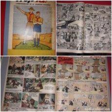Cómics: HOP-LÀ L¨HEBDOMADAIRE DE LA JEUNESSE MODERNE Nº 105 A 117 ( POPEYE,MANDRAKE ETC) 1939 GRAN FORMATO. Lote 215280811
