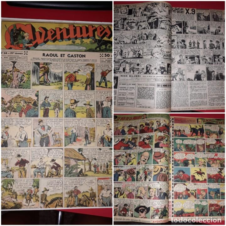 AVENTURES ( RAOUL ET GASTON ,AMOK,AGENT SECRET X-9 ETC...) 1939 *** GRAN FORMATO (Tebeos y Comics - Comics Lengua Extranjera - Comics Europeos)