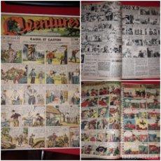 Cómics: AVENTURES ( RAOUL ET GASTON ,AMOK,AGENT SECRET X-9 ETC...) 1939 *** GRAN FORMATO. Lote 215283515