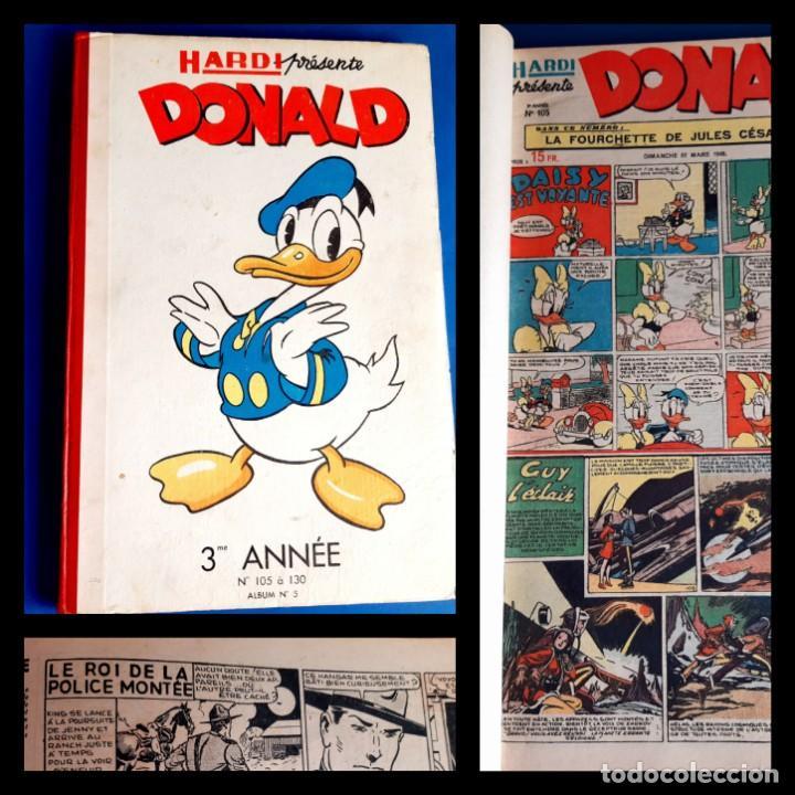 DONALD 1949 PUBLICATIÓN HEBDOMAIRE GRAN FORMATO ENCUADERNACIÓN Nº 105 À 130 ALBUM Nº 5 (Tebeos y Comics - Comics Lengua Extranjera - Comics Europeos)