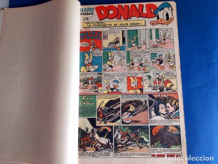 Cómics: Donald 1949 Publicatión Hebdomaire Gran Formato Encuadernación nº 105 à 130 Album nº 5 - Foto 4 - 215802338