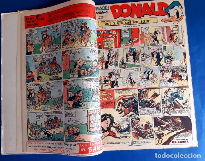 Cómics: Donald 1949 Publicatión Hebdomaire Gran Formato Encuadernación nº 105 à 130 Album nº 5 - Foto 7 - 215802338