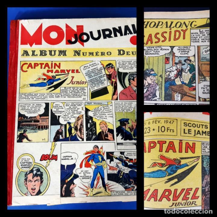 MON JOURNAL -ALBUM DEUX - 1946 -DEL Nº 11 AL Nº 25-MEDIDAS 28 X36 (Tebeos y Comics - Comics Lengua Extranjera - Comics Europeos)