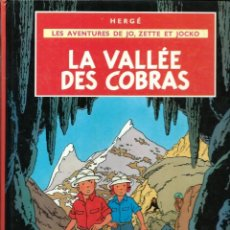 Comics : HERGE - JO, ZETTE ET JOCKO - LA VALLEE DES COBRAS - CASTERMAN 1980 - EN FRANCES - BIEN. Lote 218724326