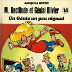 Cómics: J. DEVOS - GENIAL OLIVER Nº 14 - UN GENIE UN PEU NIGAUD - DUPUIS 1986 EDITION ORIGINALE E.O. FRANCES. Lote 218885472