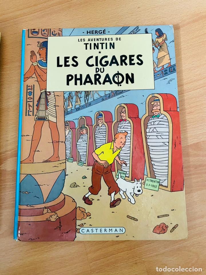 Cómics: Lote Tintin Cómic Les CIGARES Du PHARAON año 1966 + 3 planchas paginas año 2011 Hergé, Moulinsart - Foto 12 - 213789378