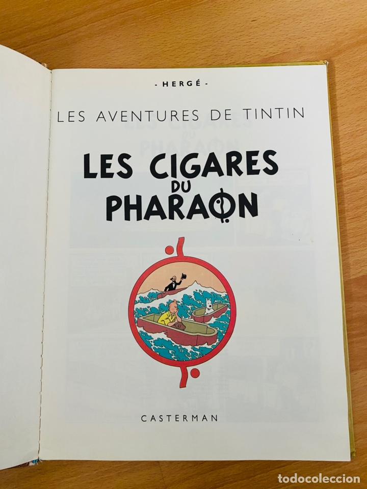 Cómics: Lote Tintin Cómic Les CIGARES Du PHARAON año 1966 + 3 planchas paginas año 2011 Hergé, Moulinsart - Foto 14 - 213789378