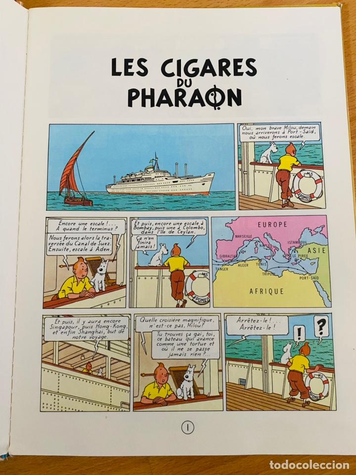 Cómics: Lote Tintin Cómic Les CIGARES Du PHARAON año 1966 + 3 planchas paginas año 2011 Hergé, Moulinsart - Foto 16 - 213789378