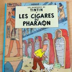 Cómics: LOTE TINTIN CÓMIC LES CIGARES DU PHARAON AÑO 1966 + 3 PLANCHAS PAGINAS AÑO 2011 HERGÉ, MOULINSART. Lote 213789378