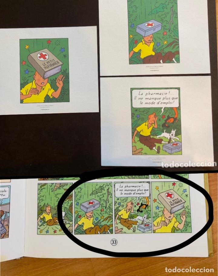 Cómics: Lote Tintin Cómic Les CIGARES Du PHARAON año 1966 + 3 planchas paginas año 2011 Hergé, Moulinsart - Foto 4 - 213789378