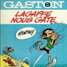 Cómics: FRANQUIN - GASTON Nº 8 - LAGAFFE NOUS GATE - DUPUIS 1981 - EN FRANCES - MUY BIEN CONSERVADO. Lote 222126137