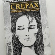 Cómics: CREPAX: ADAPTACIONES DE DRACULA Y EL DOCTOR JEKYLL Y MR. HYDE. ITALIANO ORIGINAL. Lote 222518971