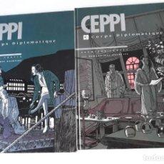 Cómics: CORPS DIPLOMATIQUE 2 TOMOS - DANIEL CEPPI - LES HUMANOIDES ASSOCIÉS (EN FRANCÉS). Lote 222890413