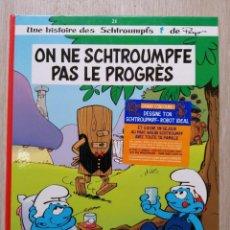 Cómics: ON NE SCHTROUMPFE PAS LE PROGRÈS. EO. LE LOMBARD 2002. Lote 227493102