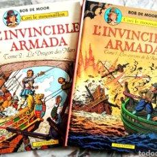 Cómics: LA ARMADA INVENCIBLE.TOMOS 1 Y 2.L'INVINCIBLE ARMADA.BOB DE MOORE.FRANCAISE.. Lote 228871677