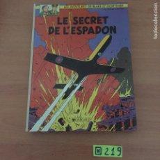 Cómics: BLAKE Y MORTIMER 09. EL SECRETO DEL ESPADÓN. Lote 234138310