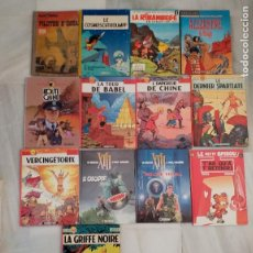 Cómics: LOTE DE 13 COMIC BUCK DANNY, SCHTROUMPFS, ALIX, VANCE, ALIZARINE, ROUTE CHINE, RIBAMBELE - FRANCÉS. Lote 235835535