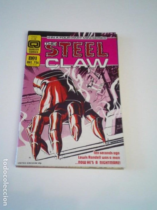 THE STEEL CLAW - 4 IN A FOUR PART MINI-SERIES - QUALITY COMICS - COMPLETA- EN INGLES - CJ 132 (Tebeos y Comics - Comics Lengua Extranjera - Comics Europeos)