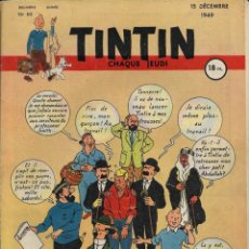 Cómics: JOURNAL TINTIN CHAQUE JEUDI. DEUXIÈME ANNÉE Nº 60. 15-12-1949. EJEMPLAR ESPECTACULAR!!. Lote 238888505