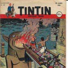 Cómics: JOURNAL TINTIN CHAQUE JEUDI. QUATRIÈME ANNÉE Nº 127, 29-3-1951. Lote 239884905