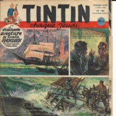 Cómics: JOURNAL TINTIN CHAQUE JEUDI. CINQUIÈME ANNÉE Nº 189, 5-6-1952. Lote 239899530