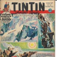 Cómics: JOURNAL TINTIN CHAQUE JEUDI. CINQUIÈME ANNÉE Nº 197, 31-7-1952. Lote 239899745