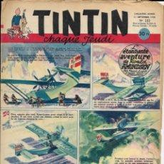 Cómics: JOURNAL TINTIN CHAQUE JEUDI. CINQUIÈME ANNÉE Nº 203, 11-9-1952. Lote 239958285